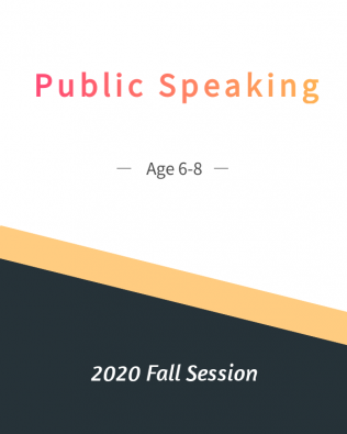 Public Speaking Age 6-8  Fall Session