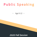 Public Speaking Age 9-12  Fall Session