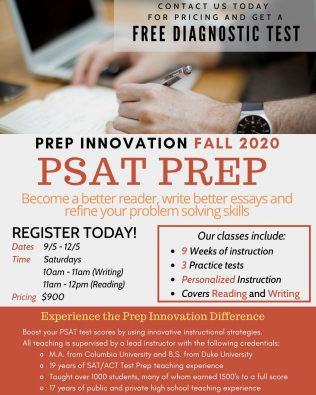 PSAT Prep (Fall Session)