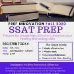 SSAT Prep (Fall Session)