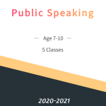 Public Speaking  Age 7-10  5 Week Class