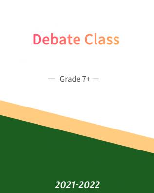 Debate – 101B Fall