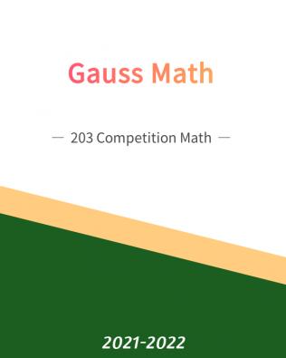 Gauss Math 203 – Competition Math