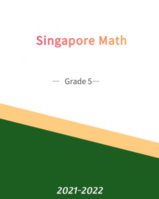 Singapore Math – 5B Fall Session