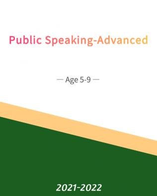 Public Speaking – Advanced Age 5-9 (Fall)