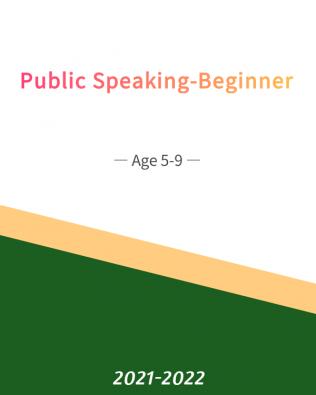 Public Speaking – Beginner  Age 5-9 (Fall)