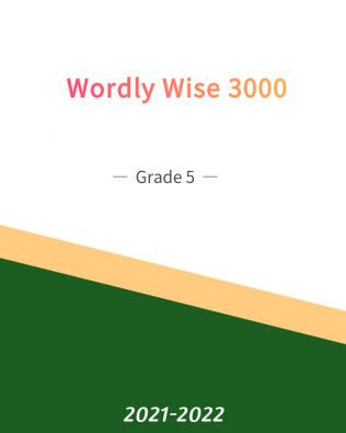 Wordly Wise 3000 Grade 5 (Fall)
